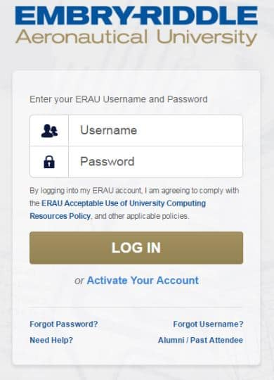 ernie login screenshot