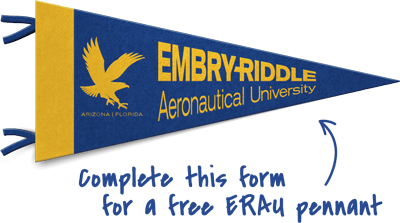 an embry-riddle pennant