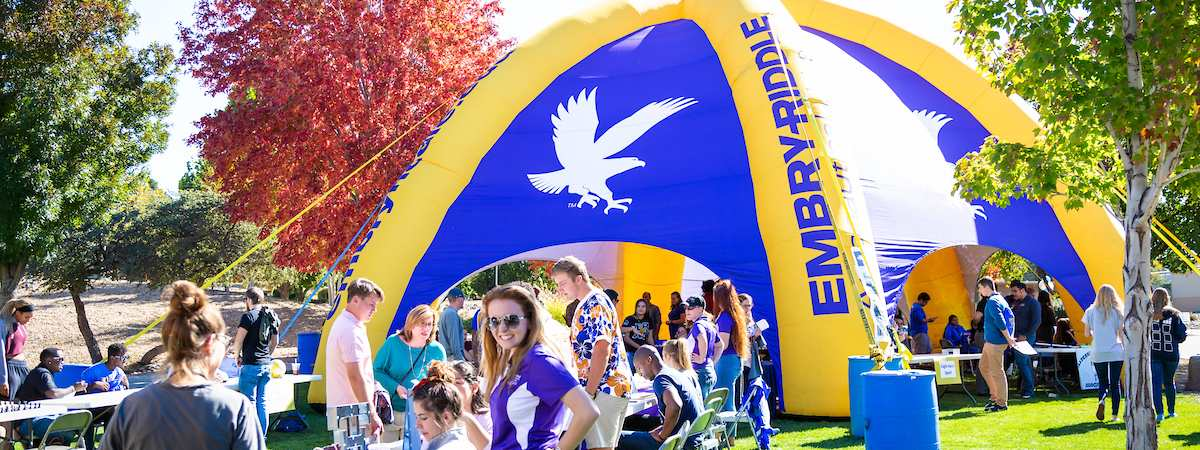 Students attending the annual Embry-Riddle Prescott Campus Open House Event