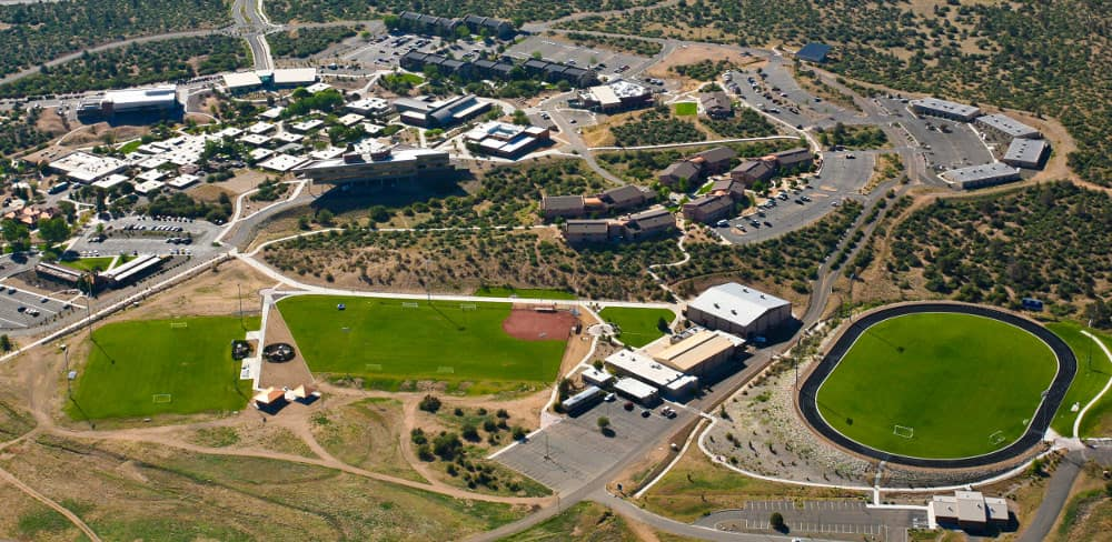 aerial view of Intercollegiate and Intramural Sports Fields