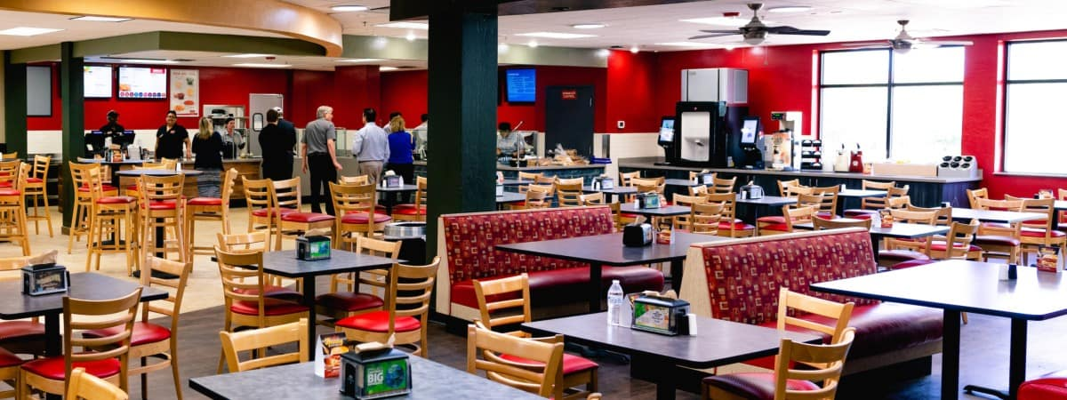 Student Union features many dining options, including Rocket Deli
