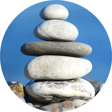 a zen tower of rocks