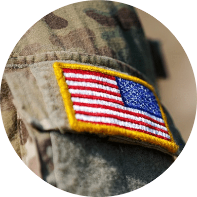 an american flag uniform patch