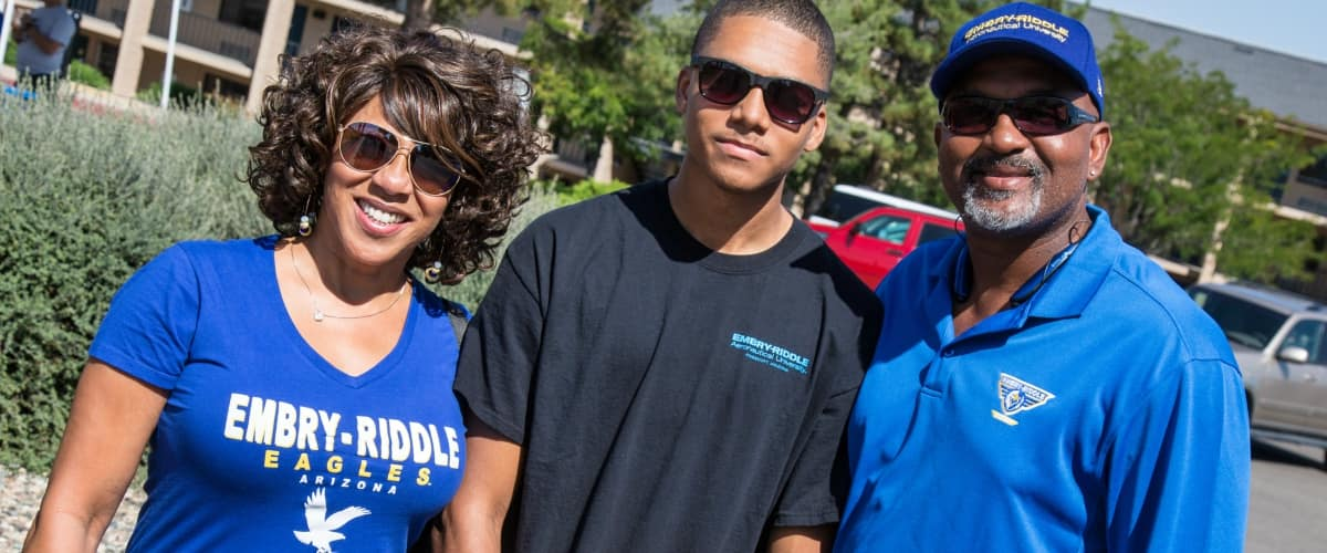 a family in erau gear