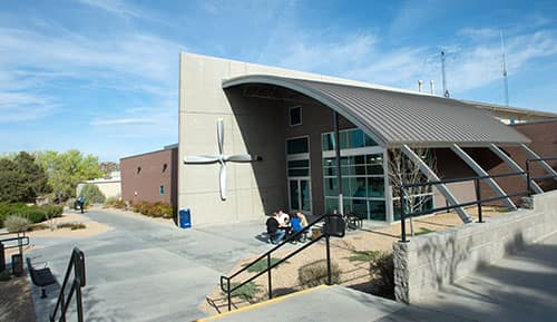 The Aerospace Experimentation and Fabrication Building (AXFAB) at Embry-Riddle Aeronautical University's Prescott campus
