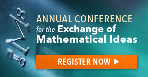 Annual Conference for the Exchange of Mathematical Ideas Registration Banner