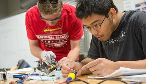 students in the Computer, Electrical, and Software Engineering Department