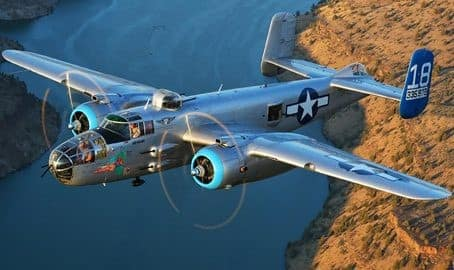 The B-25J Warbird Aircraft will appear during the 2019 Wings Out West Event