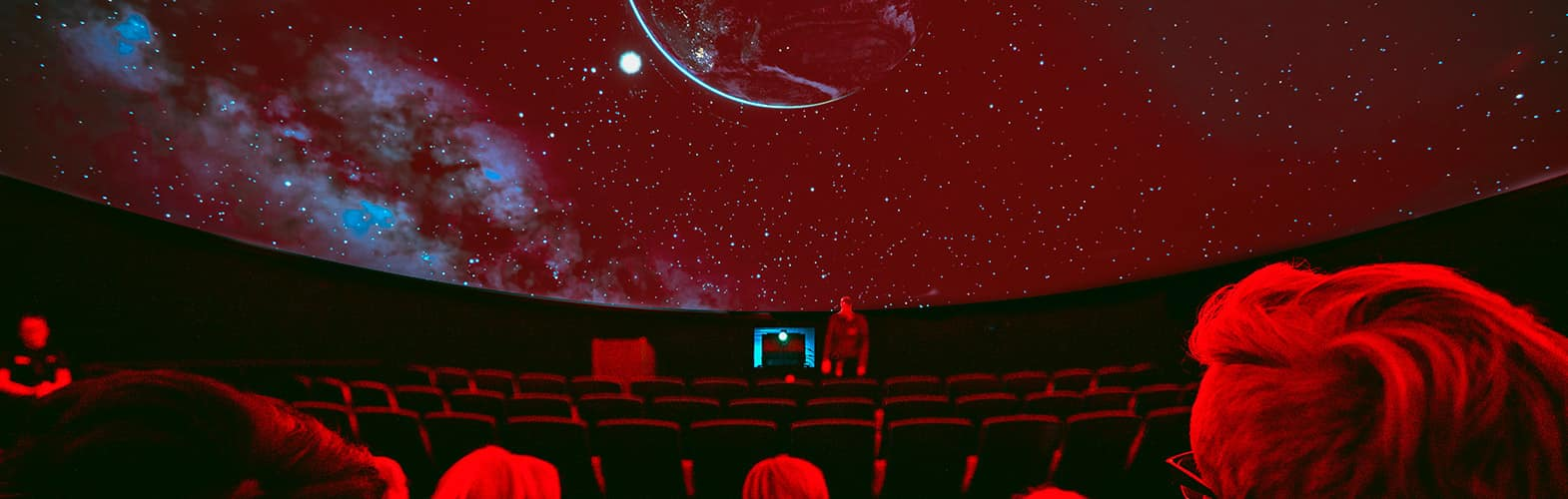 The inside of the planetarium at the Embry-Riddle Prescott Campus