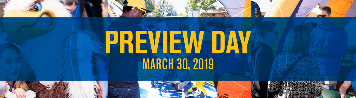 Check out all the activities and events scheduled for Preview Day 2019!