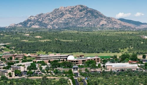 aerial view of prescott campus