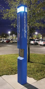 Blue emergency phone stations