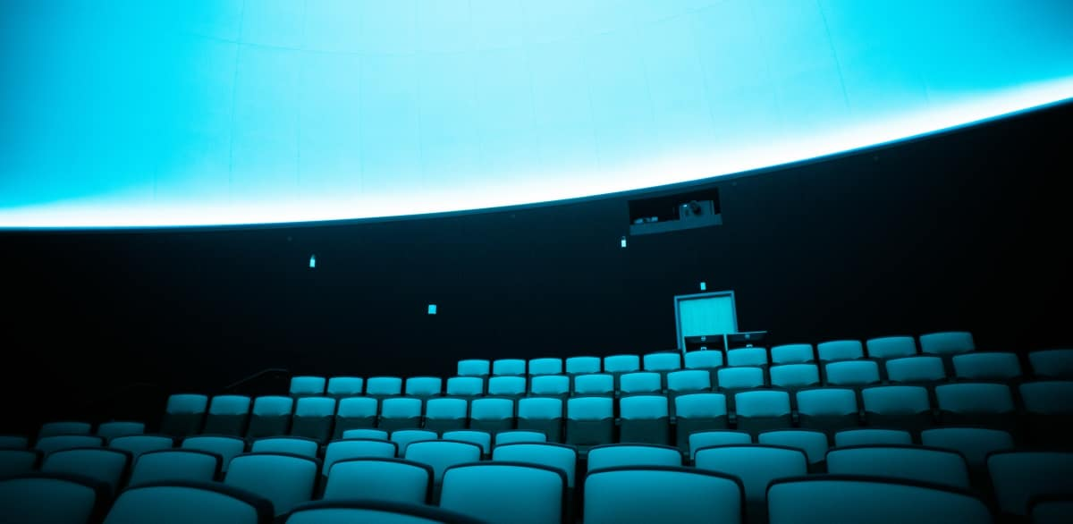 The Jim and Linda Lee Planetarium seats up to 116 students and visitors for unbelievable full dome presentations