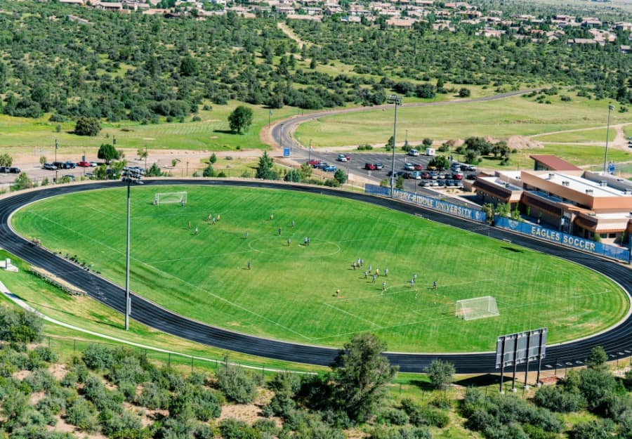 Varsity Field view from above