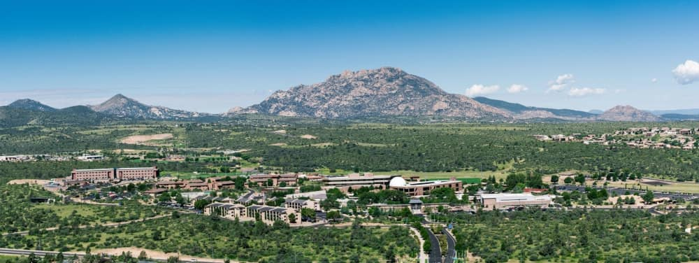 Embry-Riddle's Prescott Campus at the foot of beautiful Granite Mountain