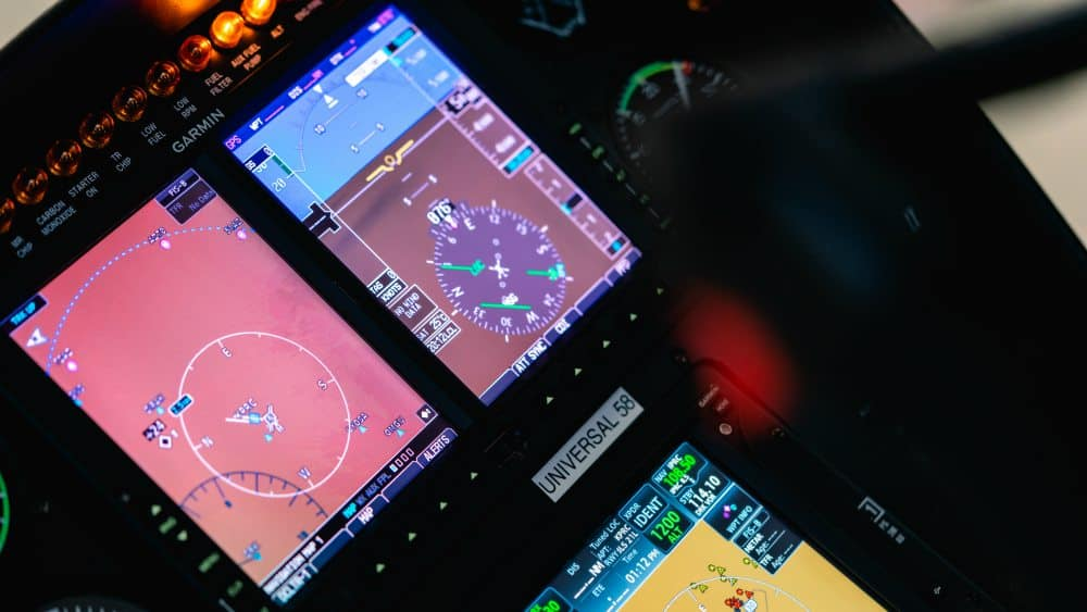 A Robinson R-44 Helicopter Console