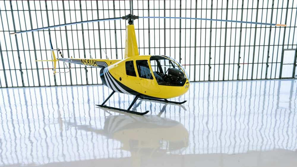 A Robinson R44 model Helicopter