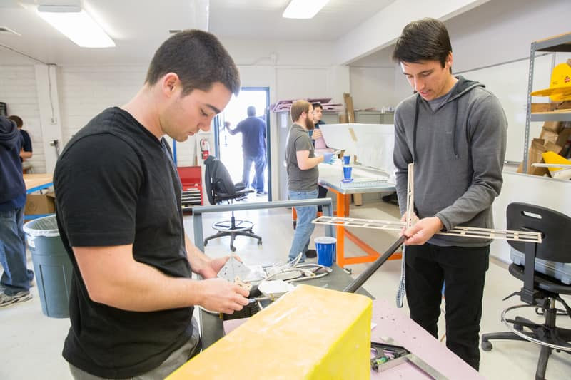 students in the Aerial Robotics Laboratory