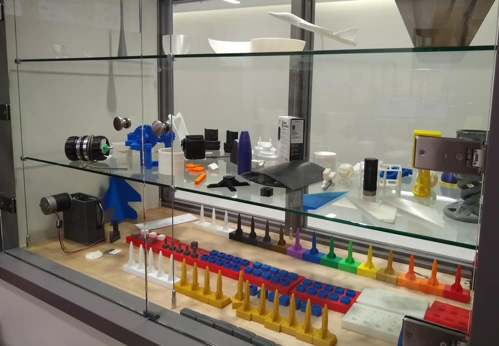 One of the two displays in the Rapid Prototyping Laboratory