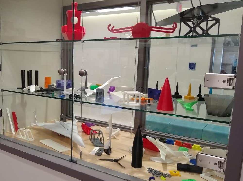 The second of two displays in the Rapid Prototyping Laboratory