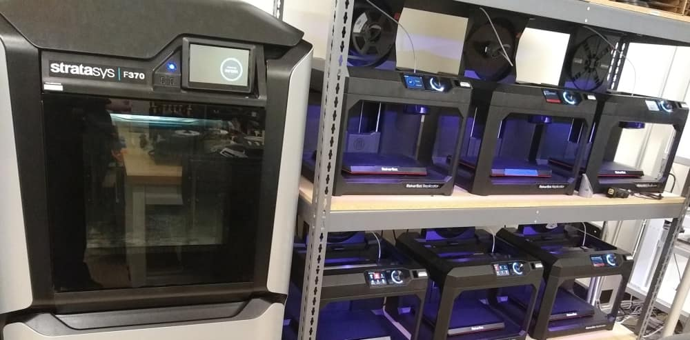The Rapid Prototyping Laboratory's Makerbot Printers