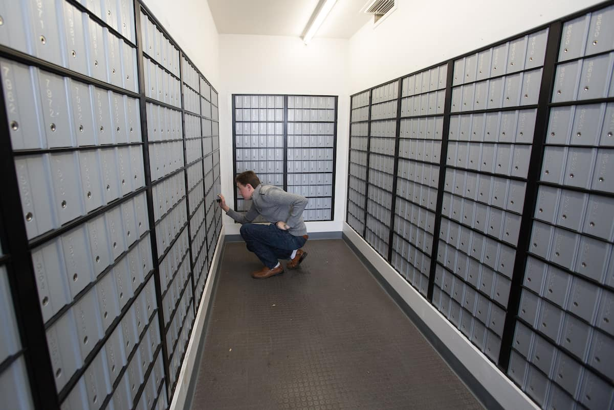 Mailboxes for Prescott Campus students