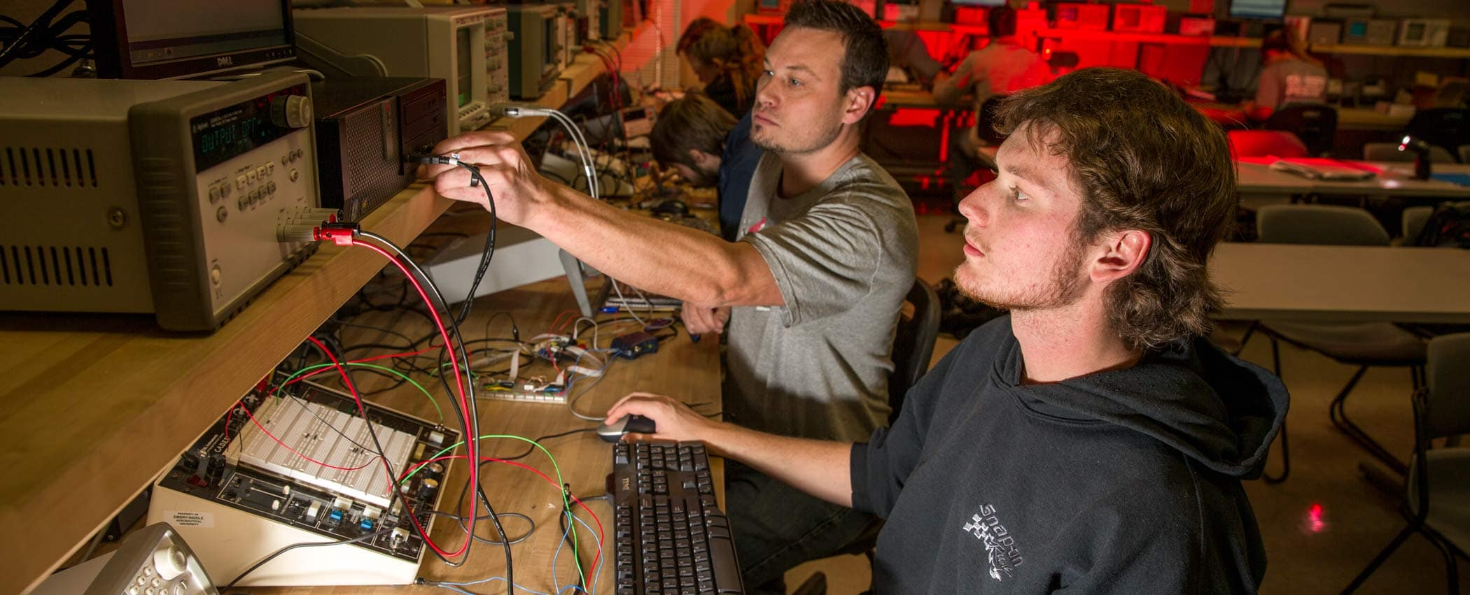 Students at Prescott, AZ Campus get hands-on with advanced electronics in the classroom.